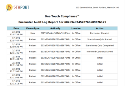 5thPort's eConsent Software - One Touch Compliance