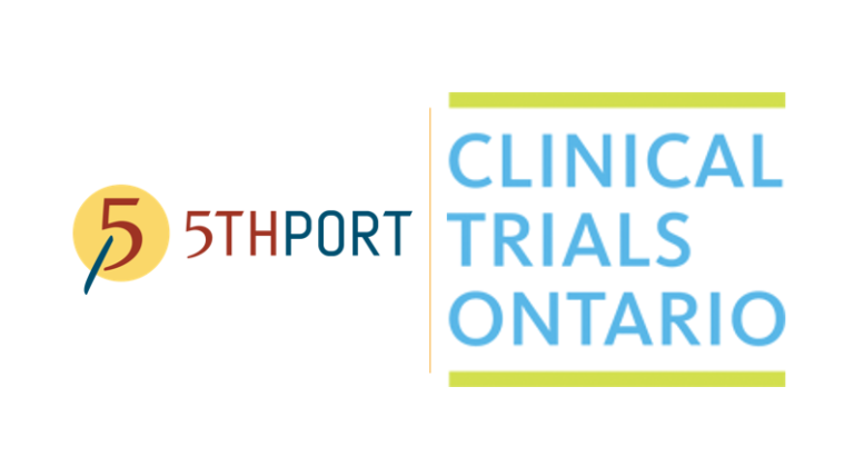 5thPort virtual booth at Clinical Trials Ontario